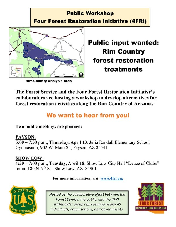 Forest Restoration Public Workshops April 2017 Flyer FINAL
